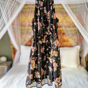 Dresses & Skirts - Black Floral Summer Dress